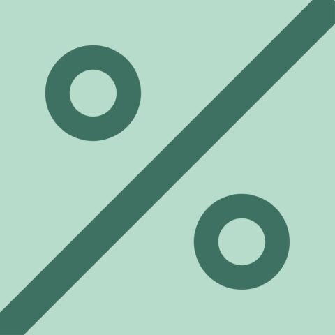 Icoon percentage groen 1